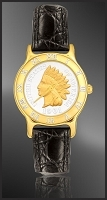 Indian Head Penny Ladies Leather Coin Watch R331-IP2-0