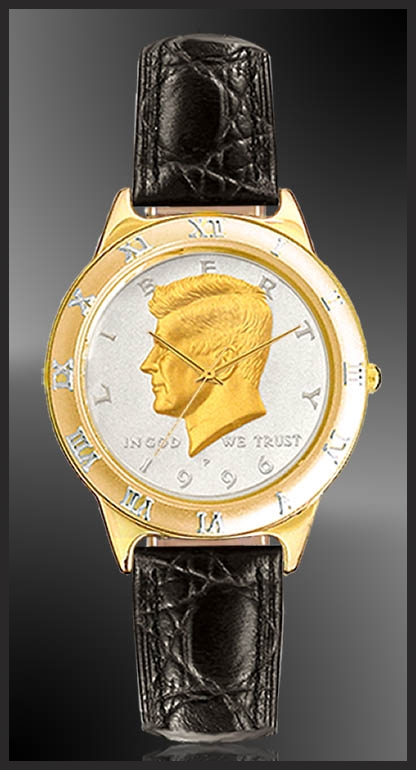 Jfk Half Dollar Mens Leather Coin Watch R331 Jfk2 0
