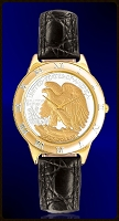 Walking Eagle Half Dollar Ladies Strap Coin Watch R331-WE2-L0