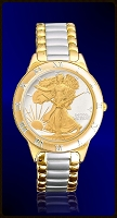 Walking Liberty Half Dollar Ladies Bracelet Coin Watch R331-WL2-L2