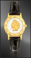 Indian Head Penny Ladies Leather Coin Watch R333-IP2-0