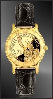 Statue of Liberty Dollar Mens Strap Coin Watch R333-PSLP-0