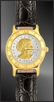 Susan B. Anthony Dollar Ladies Leather Coin Watch R333-SBA2-L0