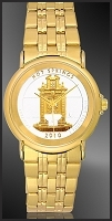 America The Beautiful Quarters Youth/Unisex Goldtone Bracelet Coin Watches S333-IUS2-3