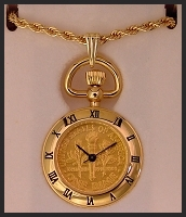 Torch Dime Pendant Watch
