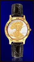 Mint Time Brand Walking Liberty Mens Leather Watch UC335-WL2-0