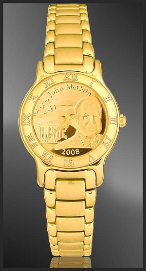 John McCain Ladies Bracelet Medallion Watch R333-FJM3-3
