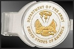 US Army Medallion Nickel Finish Money Clip C287-MAR2