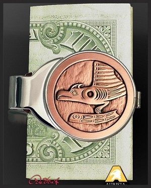 Native American Medallion Nickel Money Clip C307-NEA9