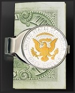 Presidential Seal Half Dollar Nickel Money Clip C307-PS2