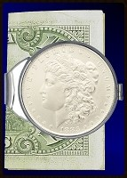 Morgan Dollar Silver Dollar Nickel Plated Money Clip C387-MD1