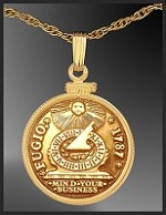Fugio Goldtone Coin Replica Necklace NCM6-FFG3-20B3