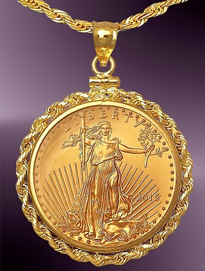 25 Dollar Gold Eagle Coin Necklace Nrr8 25e 24c8