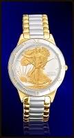 Walking Liberty Half Dollar Ladies Bracelet Coin Watch R323-WL2-L2