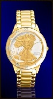 Walking Liberty Half Dollar Mens Bracelet Coin Watch R331-WL2-3