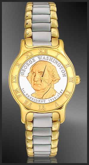 Washington Dollar Mens Bracelet Coin Watch R333-P012-2