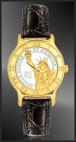 Statue of Liberty Dollar Mens Strap Coin Watch R333-PSL2-0