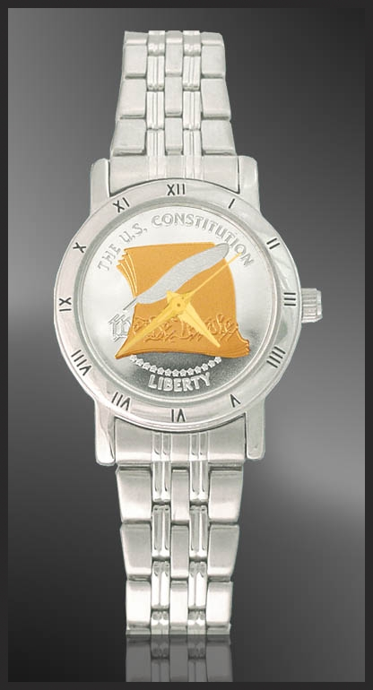 U.S. Constitution Ladies Bracelet Medallion Watch C115-FCC2-1