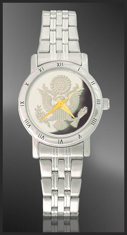 Great Seal Ladies Bracelet Medallion Watch C115-FGS1-1