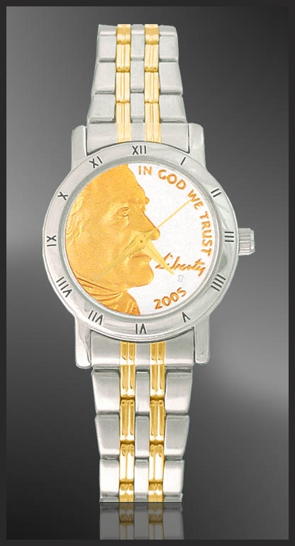 Jefferson Nickel Ladies Bracelet Coin Watch C115-FJN2-2