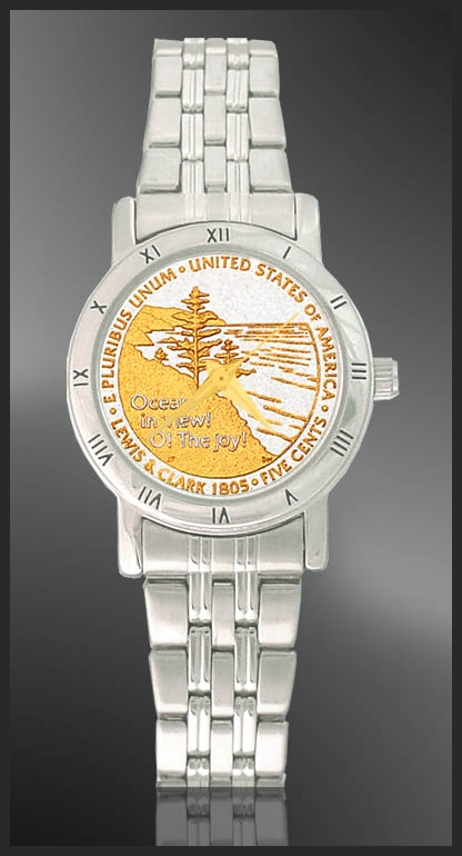 Ocean in View Nickel Ladies Bracelet Coin Watch C115-FOV2-1