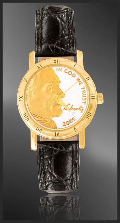 Jefferson Nickel Ladies Strap Coin Watch C335-FJN2-0
