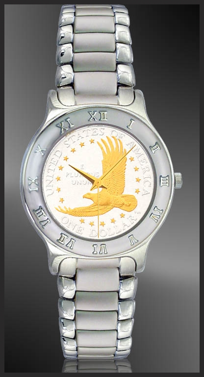 Eagle Dollar Mens Bracelet Coin Watch R111-ED2-1