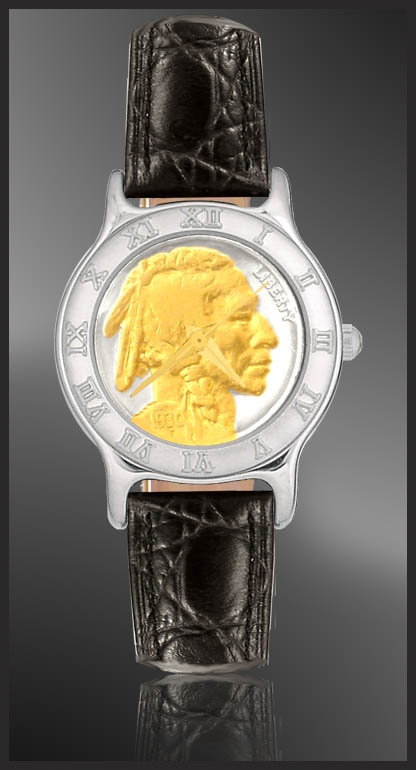 Indian Head Nickel Ladies Strap Coin Watch R111-FIN2-0