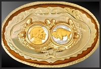 Buffalo Nickels Carson City Belt Buckle BB-CC-NB2IN2