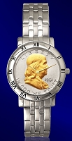 Ben Franklin Half Dollar Mens Bracelet Coin Watch C115-BF2-1