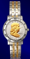 Ben Franklin Half Dollar Mens Bracelet Coin Watch C115-BF2-2