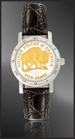 American Bison Nickel Ladies Strap Coin Watch C115-FBN2-0