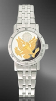 Great Seal Ladies Bracelet Medallion Watch C115-FGS2-1