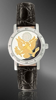 Great Seal Ladies Strap Medallion Watch C115-FGS2-0