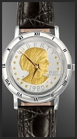 Susan B. Anthony Dollar Mens Strap Coin Watch C115-SBA2-0