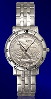 Walking Eagle Half Dollar Mens Bracelet Coin Watch C115-WE1-1