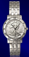 Walking Liberty Half Dollar Mens Bracelet Coin Watch C115-WL1-1