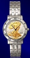 Walking Liberty Half Dollar Mens Bracelet Coin Watch C115-WL2-1