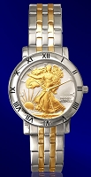 Walking Liberty Half Dollar Mens Bracelet Coin Watch C115-WL2-2