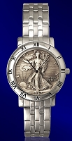 Walking Liberty Half Dollar Mens Bracelet Coin Watch C115-WL9-1