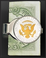 Presidential Seal Half Dollar Money Clip C307-PS2
