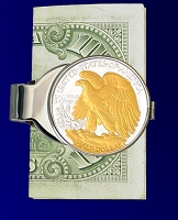 Walking Eagle Half Dollar Money Clip C307-WE2