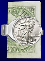 Walking Liberty Half Dollar Nickel Money Clip C307-WL1