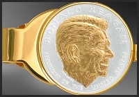 Ronald Reagan Gold Plated Money Clip C333-PRR12
