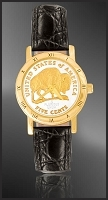 American Bison Nickel Ladies Strap Coin Watch C335-FBN2-0