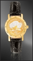 American Bison Nickel Ladies Strap Coin Watch C335-FBN4-0