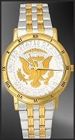 Presidential Seal Mens Bracelet Coin Watch C335-PS2-2