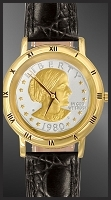 Susan B. Anthony Dollar Mens Strap Coin Watch C335-SBA2-0