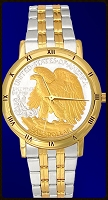 Walking Eagle Mens Bracelet Coin Watch C335-WE2-2