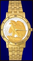 Walking Eagle Mens Bracelet Coin Watch C335-WE2-3